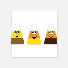 "Fall Candy Corn Square Sticker 3"" x 3"""