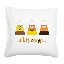 A Bit Corny Square Canvas Pillow