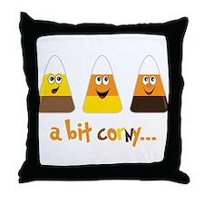 A Bit Corny Throw Pillow