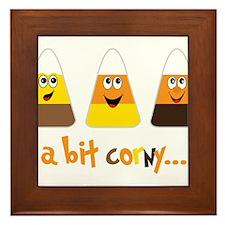 A Bit Corny Framed Tile