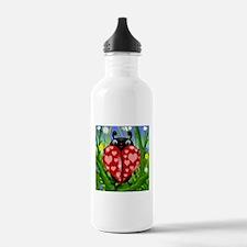 Love Bug Lady Bug Water Bottle