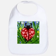 Love Bug Lady Bug Bib