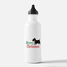 Christmas Scottish Terrier Water Bottle