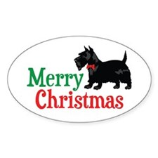 Christmas Scottish Terrier Decal