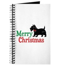 Christmas Scottish Terrier Journal