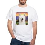 White Husky Meadow White T-Shirt