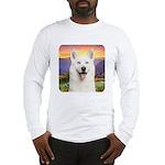 White Husky Meadow Long Sleeve T-Shirt