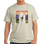 White Husky Meadow Light T-Shirt