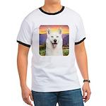 White Husky Meadow Ringer T