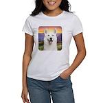 White Husky Meadow Women's T-Shirt