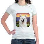 White Husky Meadow Jr. Ringer T-Shirt