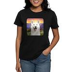 White Husky Meadow Women's Dark T-Shirt