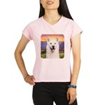White Husky Meadow Performance Dry T-Shirt