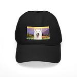 White Husky Meadow Black Cap