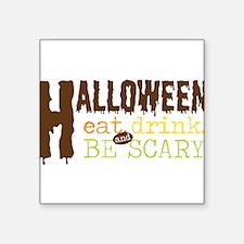 "Halloween Square Sticker 3"" x 3"""