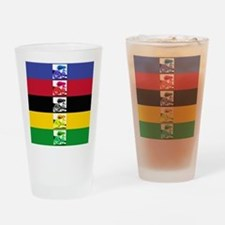 world champ stripes Drinking Glass