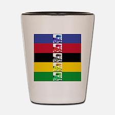 world champ stripes Shot Glass