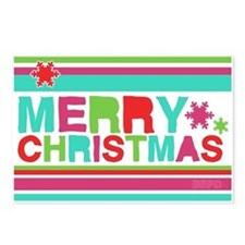 Modern Merry Christmas Postcards (Package of 8)