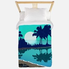 Tropical Blue and Sea Turtle Too: Twin Duvet