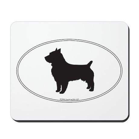 Aus. Terrier Silhouette Mousepad