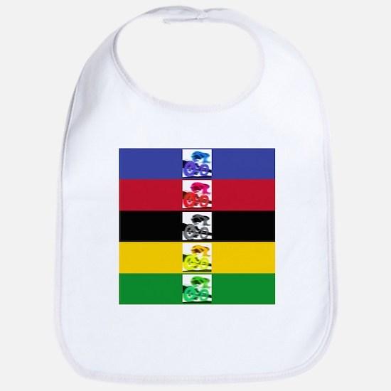 world champ stripes Bib