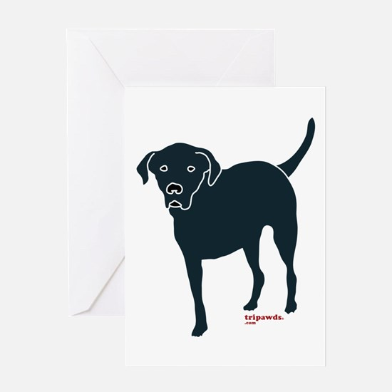 Tri-Lab Silhouette (Front) Greeting Cards