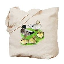 Snowy Call Duck Family Tote Bag