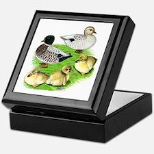 Snowy Call Duck Family Keepsake Box