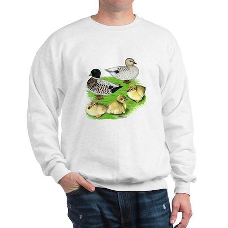 Snowy Call Duck Family Sweatshirt