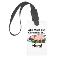 Christmas Ham Luggage Tag