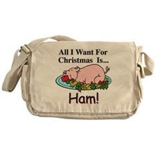 Christmas Ham Messenger Bag