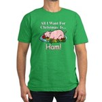 Christmas Ham Men's Fitted T-Shirt (dark)