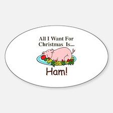 Christmas Ham Decal
