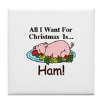 Christmas Ham Tile Coaster