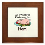 Christmas Ham Framed Tile