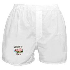 Christmas Ham Boxer Shorts