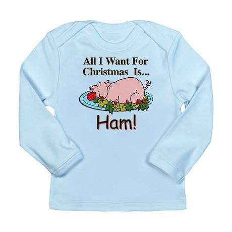 Christmas Ham Long Sleeve Infant T-Shirt
