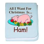 Christmas Ham baby blanket