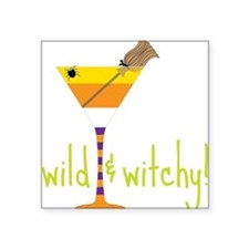 "Wild And Witchy Square Sticker 3"" x 3"""