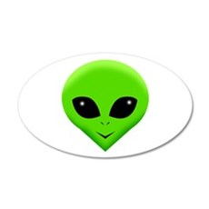 green alien.png Wall Decal