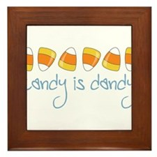 Candy Is Dandy Framed Tile