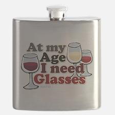 I Need Glasses Flask