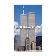World Trade Center We'll Never forget Decal
