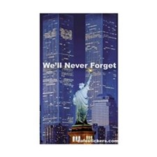9-11 We'll Never Forget Stickers