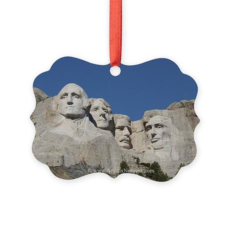 Mt Rushmore Picture Ornament