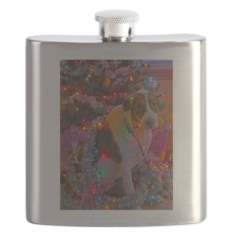Merry Christmas Mixed Breed Flask