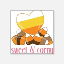 "Sweet And Corny Square Sticker 3"" x 3"""