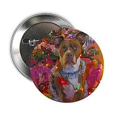 "pitbull christmas card.jpg 2.25"" Button"