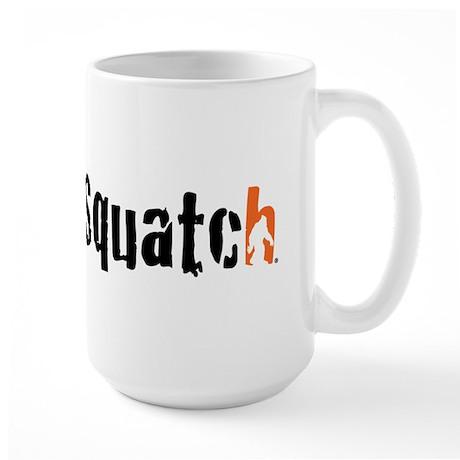 I'm with squatch Large Mug
