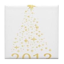 Happy new year 2013 Tile Coaster